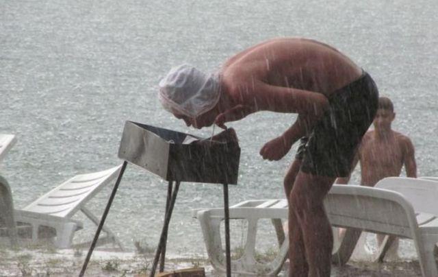 Lustige Bilder Grillen Im Regen