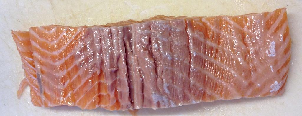 Pavé de saumon sans sa peau