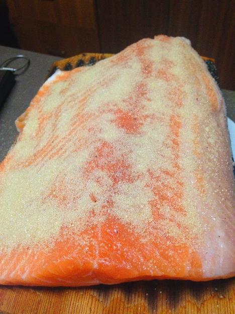 saumon avec pellicule de cassonade